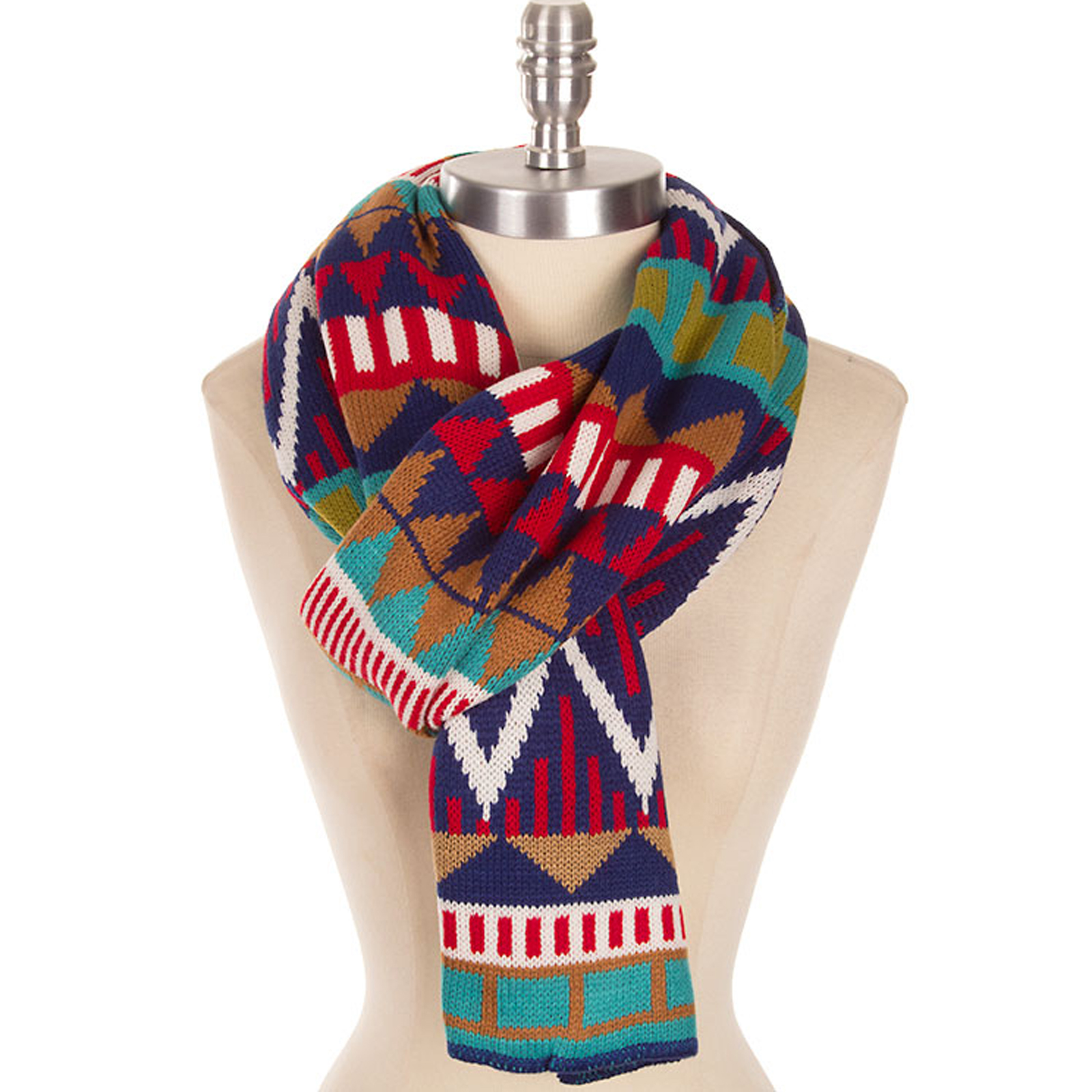 Pungles - Online Shopping Store - Aztec Red Blue Thick Soft Knit ...