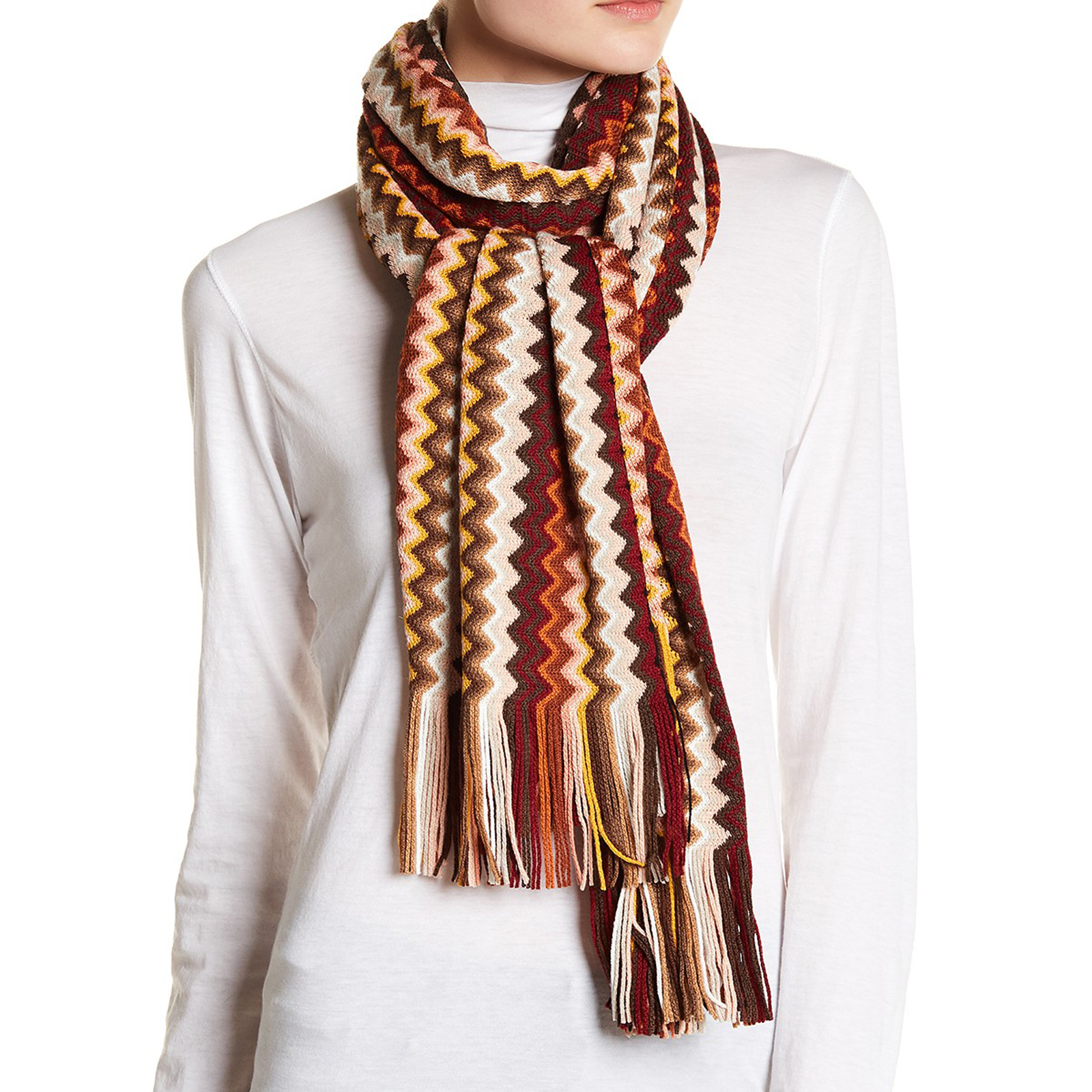 Pungles - Online Shopping Store - Knit Wool Blend Fringe Brown Beige ...
