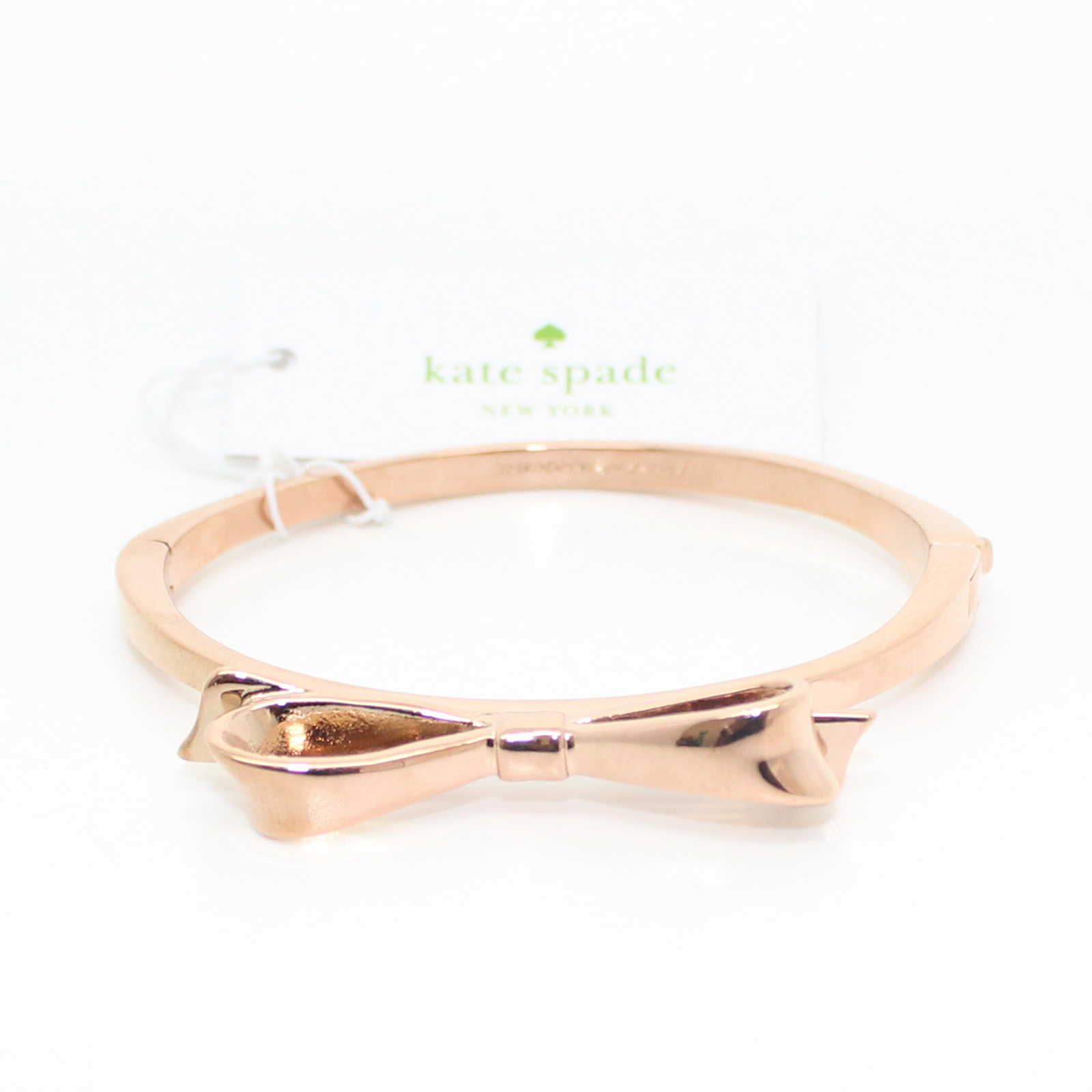 Kate Spade Love Notes Bow Rose Gold Bangle