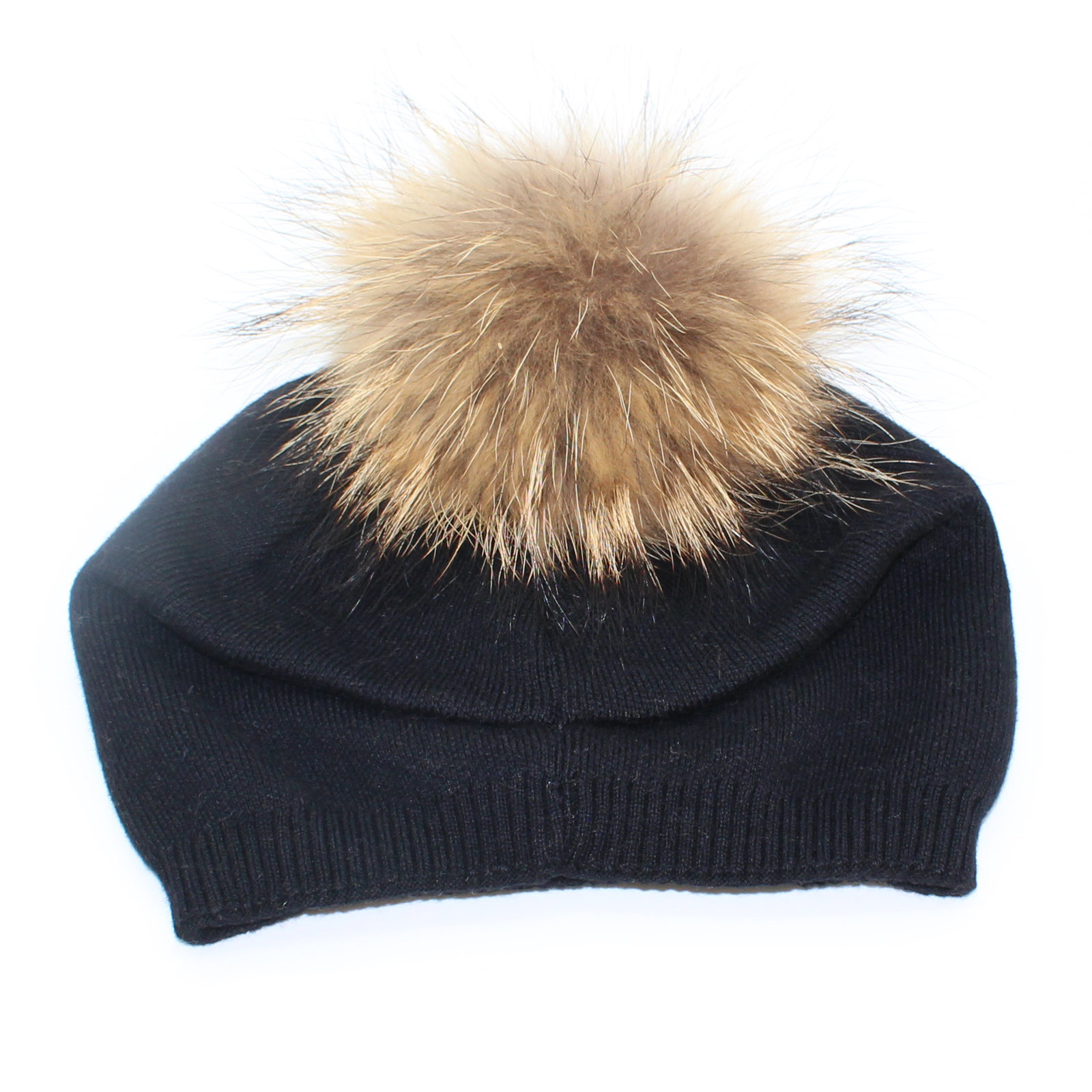 6acb644ea66 Pungles - Online Store - Knitted Cashmere Removable Fur Pompom ...