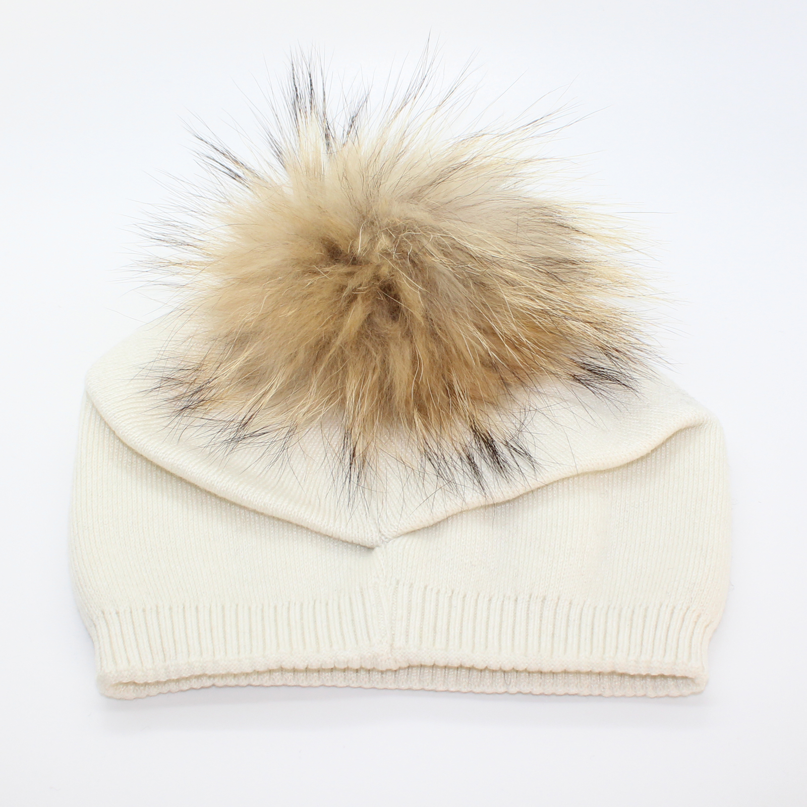 Pungles - Online Store - Knitted Cashmere Removable Fur Pompom ... 23c8ce52a68