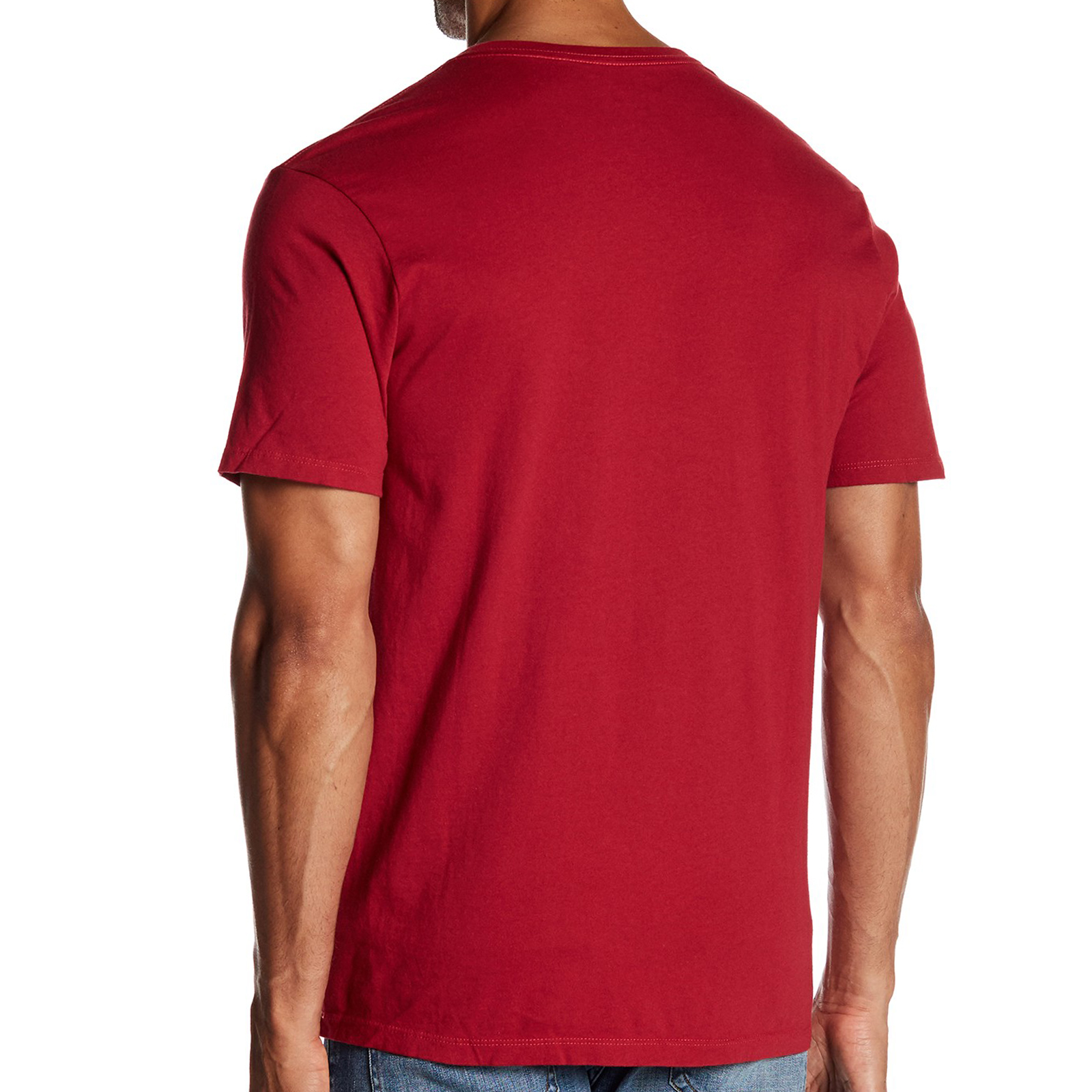 Pungles Online Store Cotton Vneck Short Sleeves Red Tee